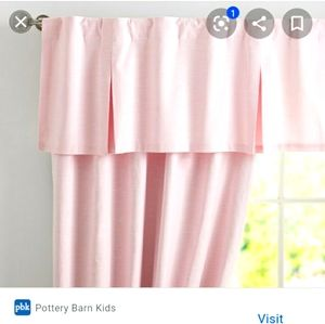 Pottery Barn Kids White Pleated Valance